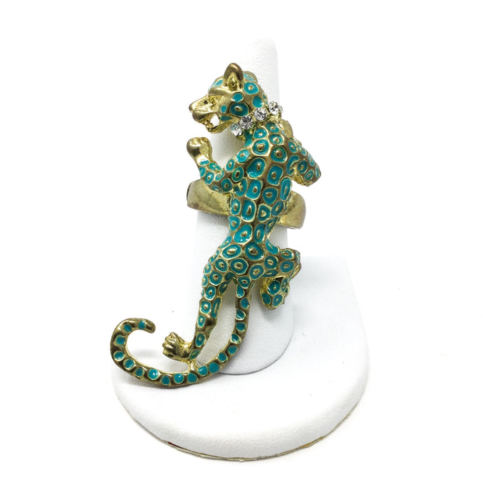 Enamel Jaguar Ring