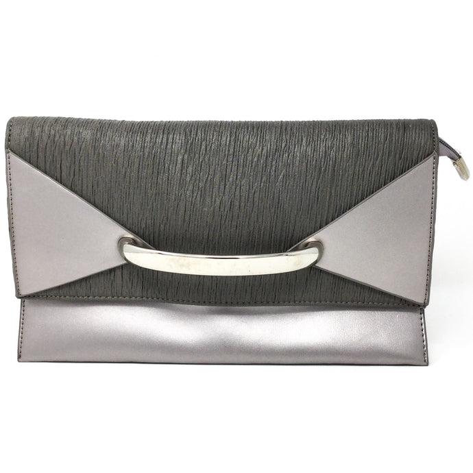 Silver Clutch with Handle