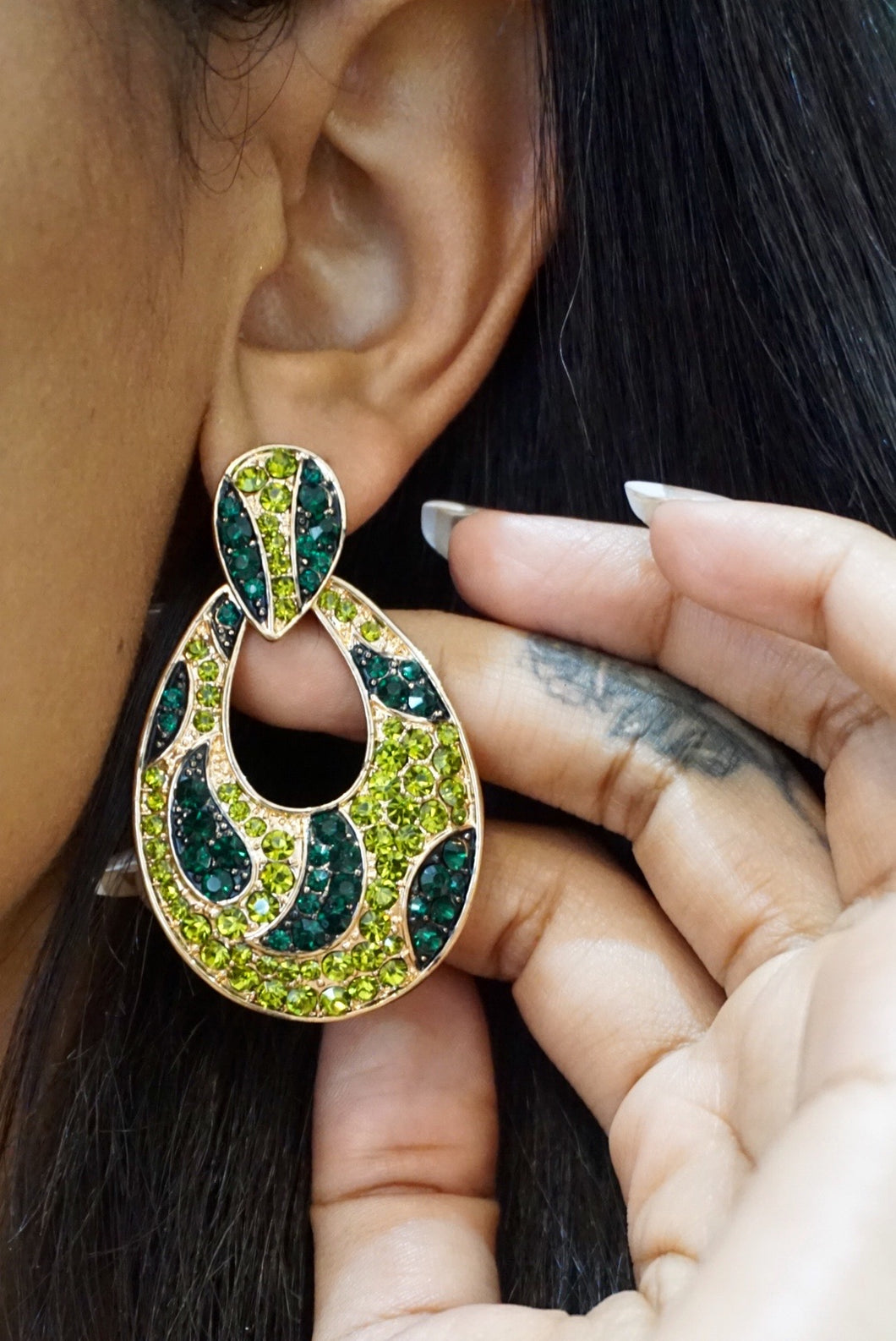 Jungle Green Earrings