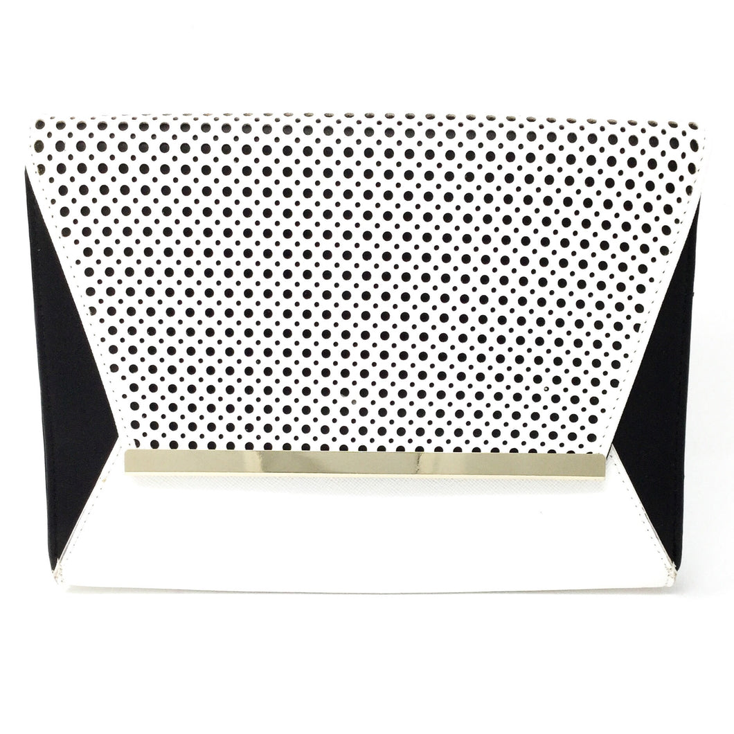 Black and White Clutch with Circle Cutouts