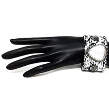 Mother of Pearl Leather Cuff
