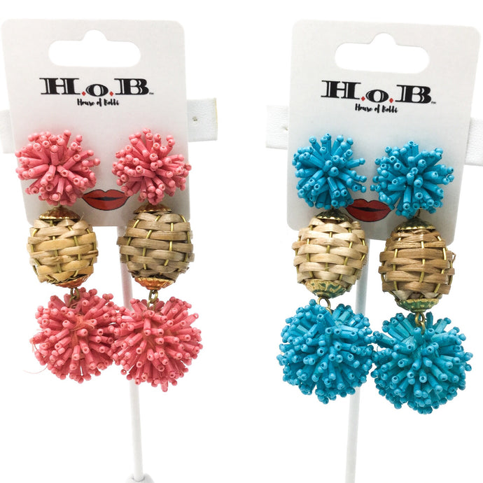 Woven Ball Earrings