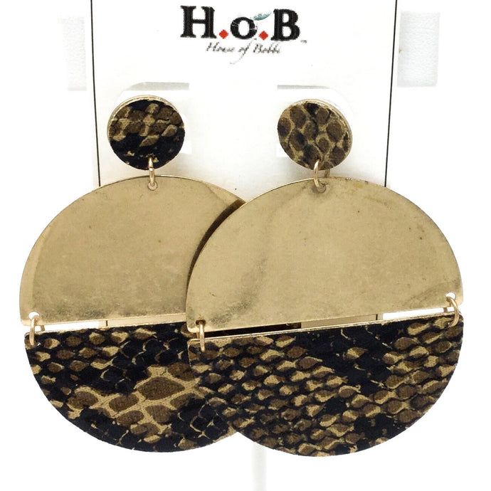 Gold Snakeskin Earrings