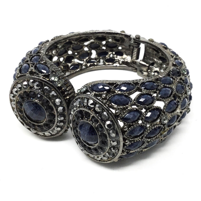 Dark Blue Hinged Bracelet