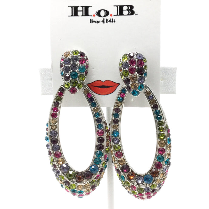 Multicolor Oval Hoops