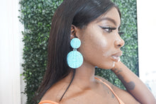 Blue Circle Earrings