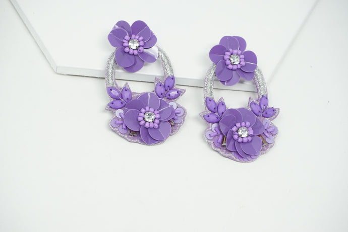 Purple Lily earrings