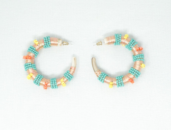 Summertime hoop earrings