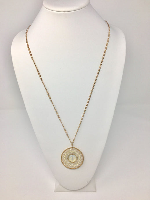 White Gem Necklace