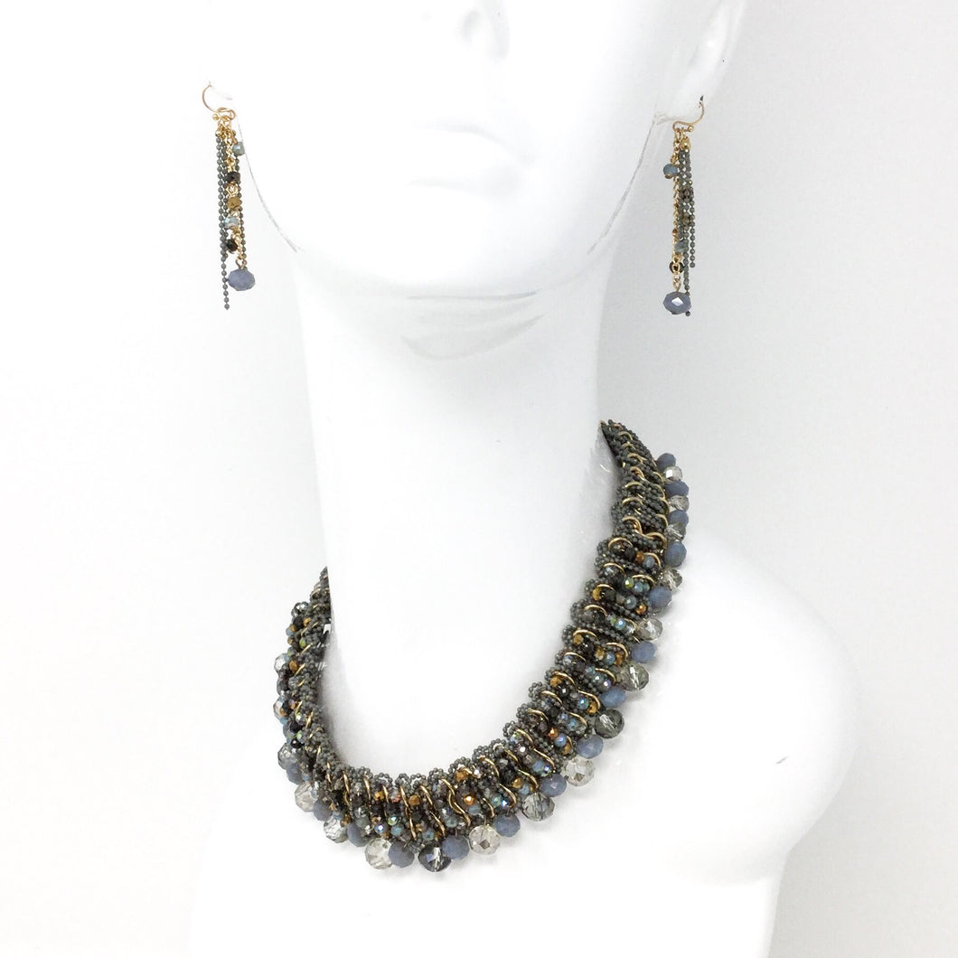 Woven Necklace and Earring Set