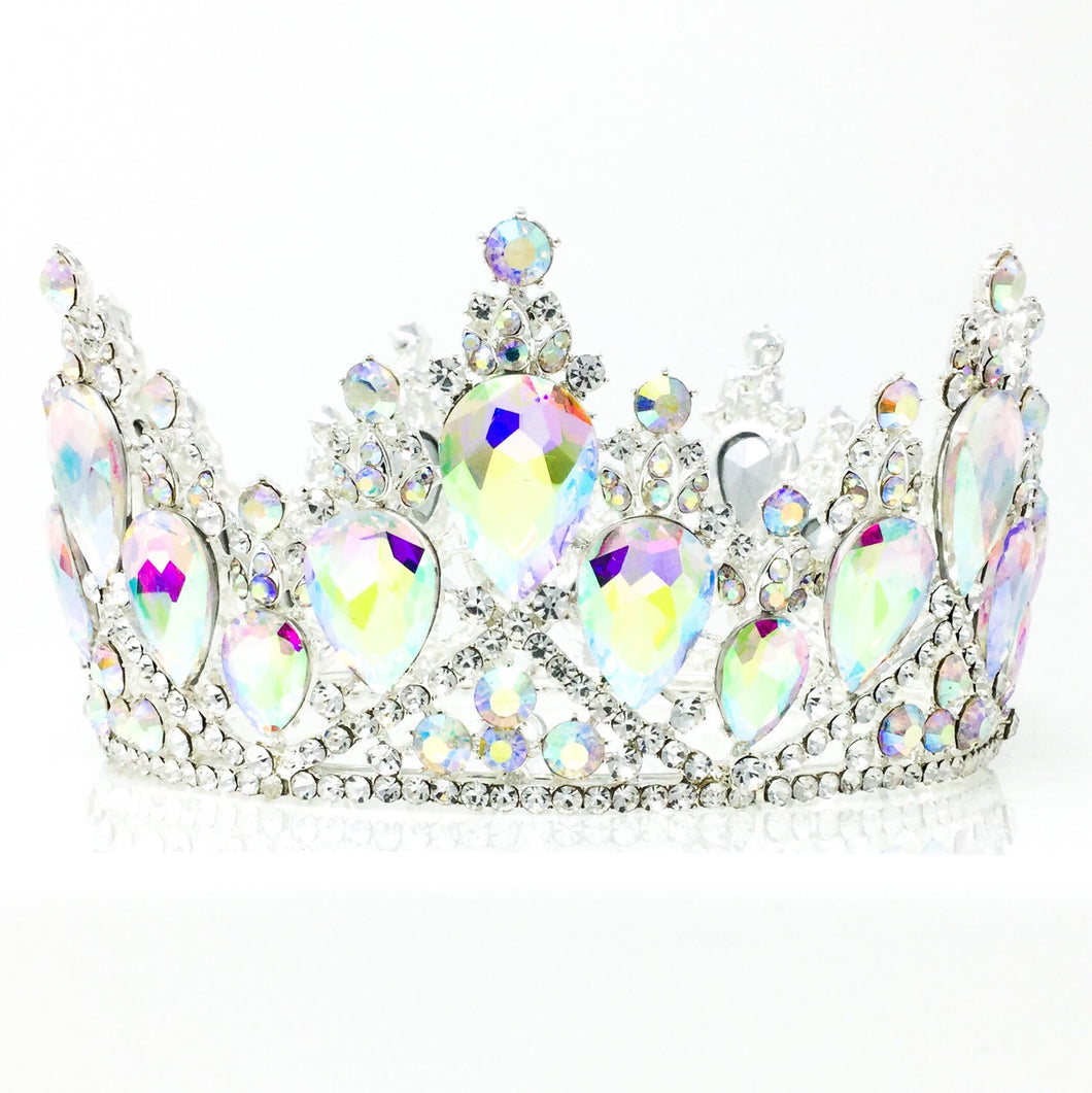 Iridescent Gemstone Crown Silver