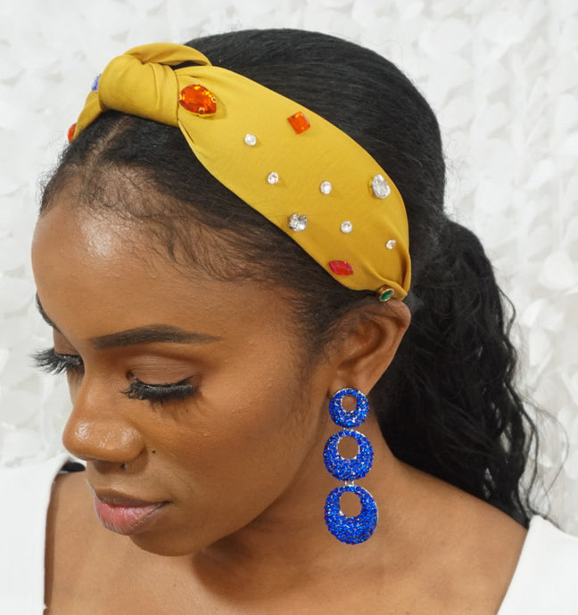 Yellow Jeweled Headband