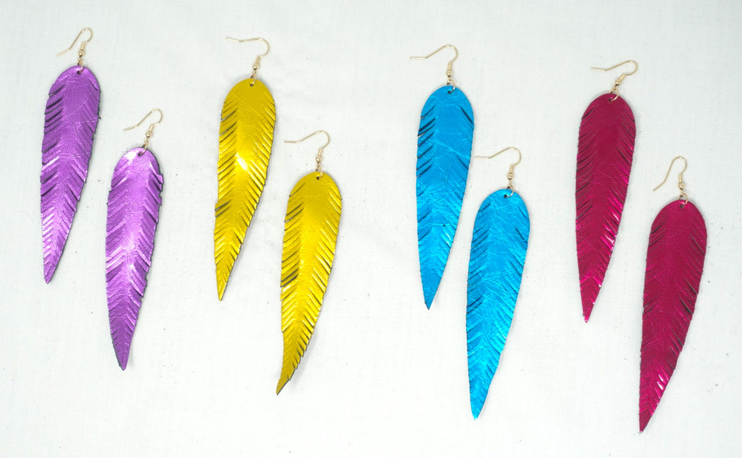 Electric Feather Earrings