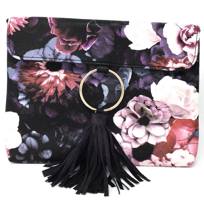 Floral Clutch with Tassle