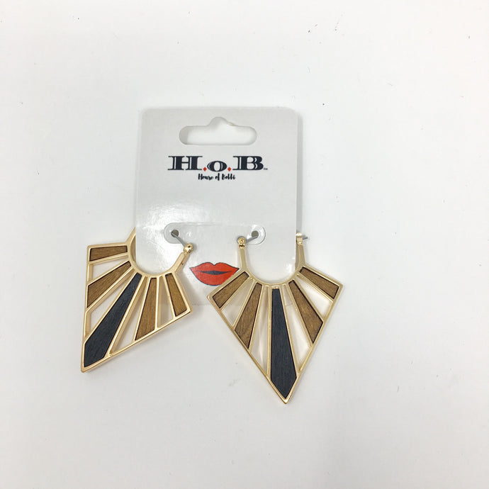 Wood Collar Earrings