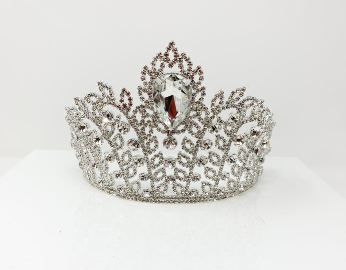 Classic silver leaves tiaras