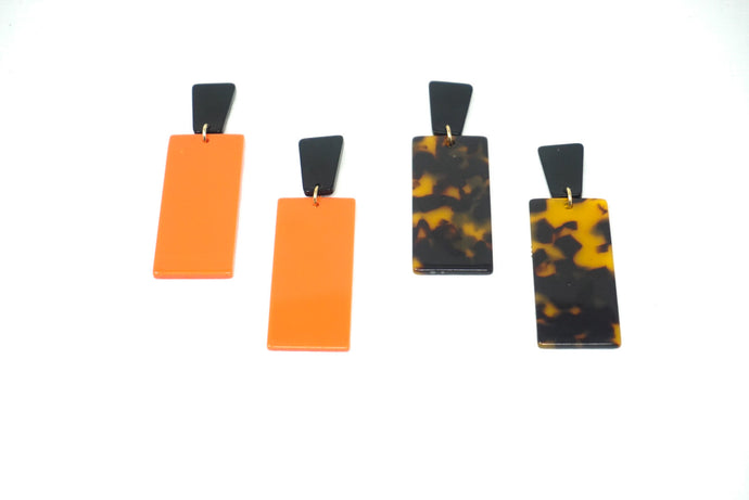 Small Box Resin Earrings