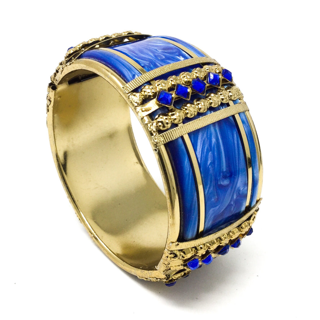 Big Blue Hinged Bangle
