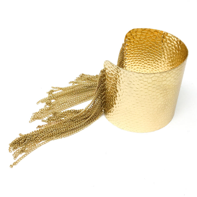 Golden Fringe Cuff