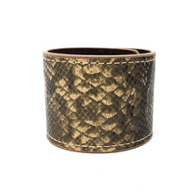 Snakeskin Leather Snap Bracelet