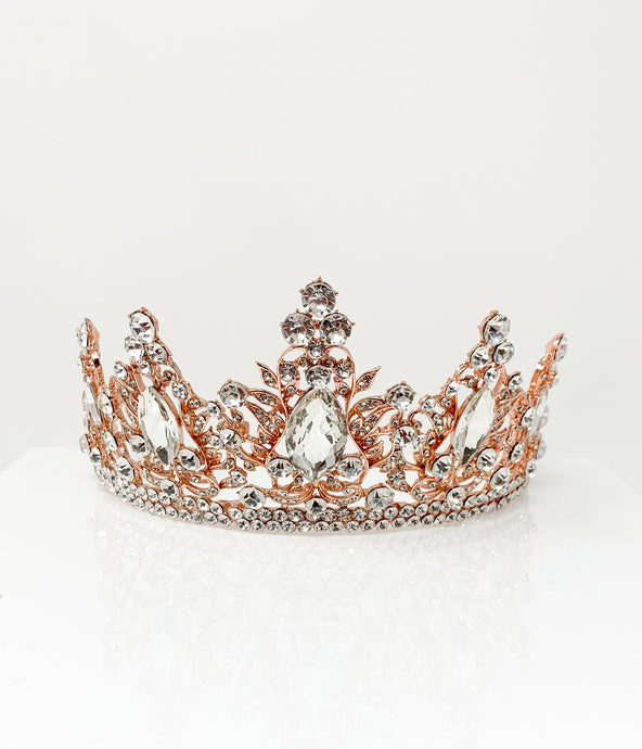 Big jewels rose gold tiara