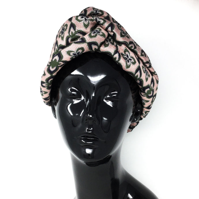 Pink, Green, and Silver Headwrap