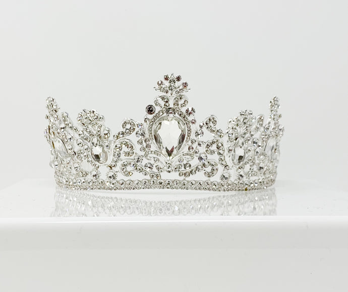 Silver big gem tiara