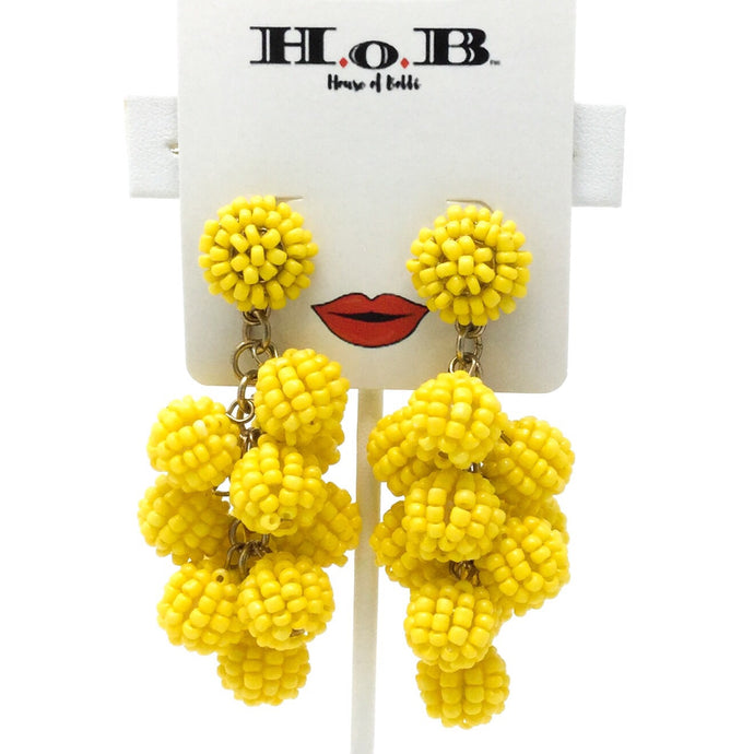 Yellow Fruit Earrings