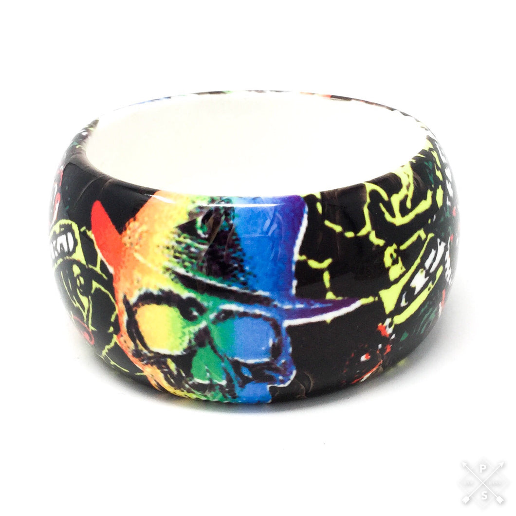 Rainbows and Skulls Bangle