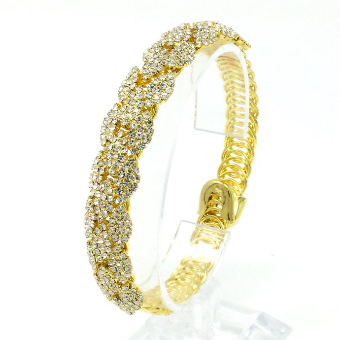 Delicately Gemmed Bridal Bracelet