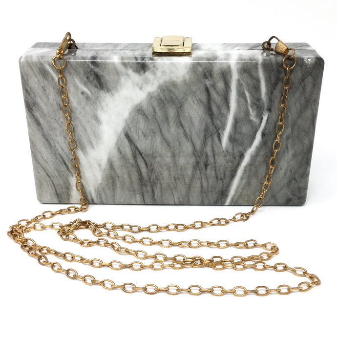 Gray Marble Clutch