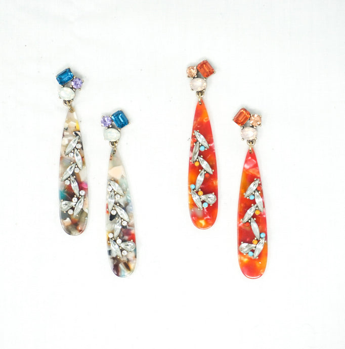 Crystal Resin Earrings