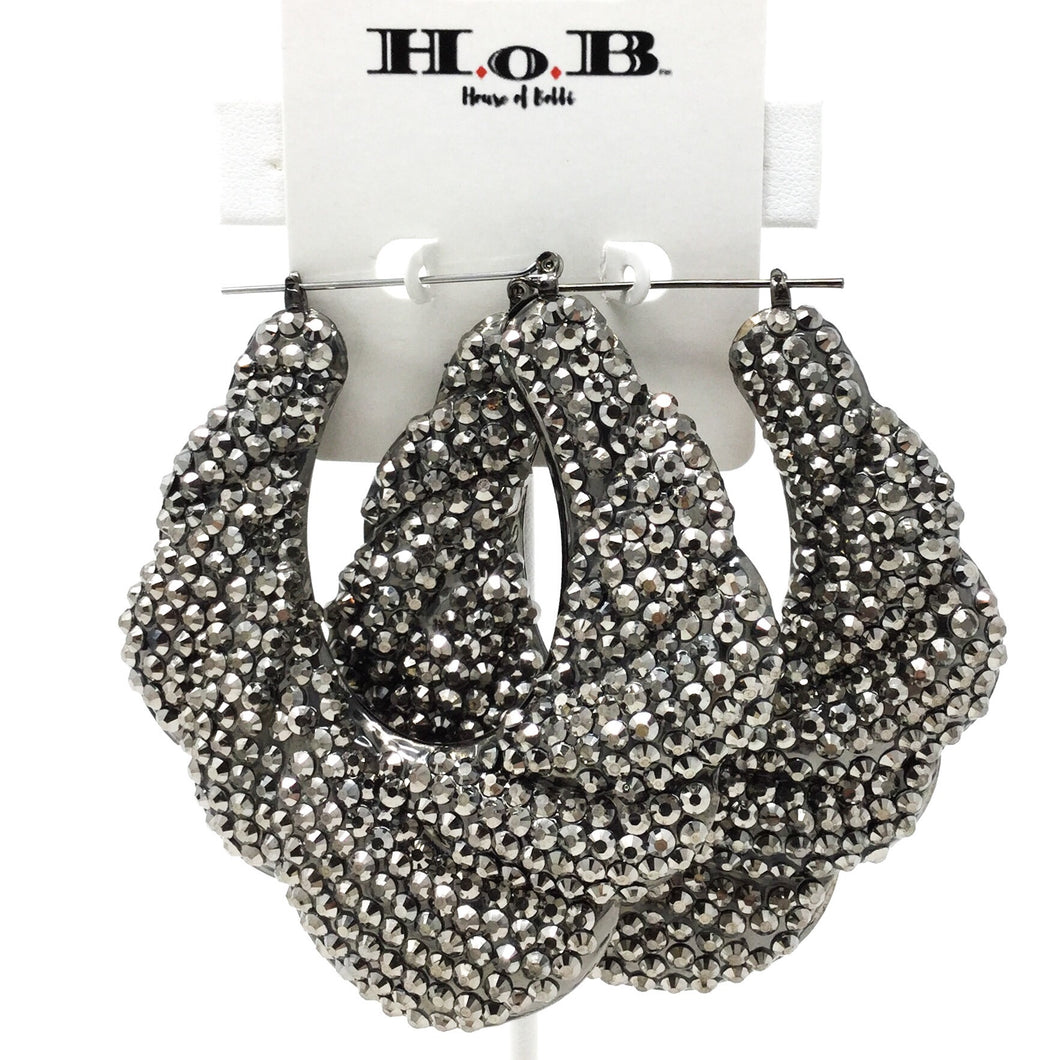 Braided Hollow Form Hoops