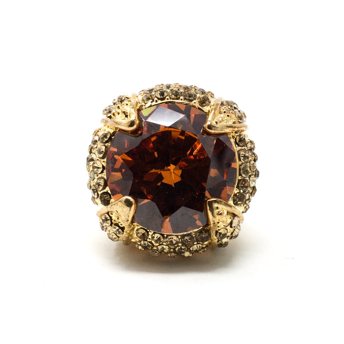 Gold and Orange Gem Ring