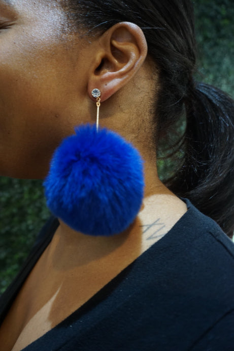 Puff Pom-Pom  Earrings