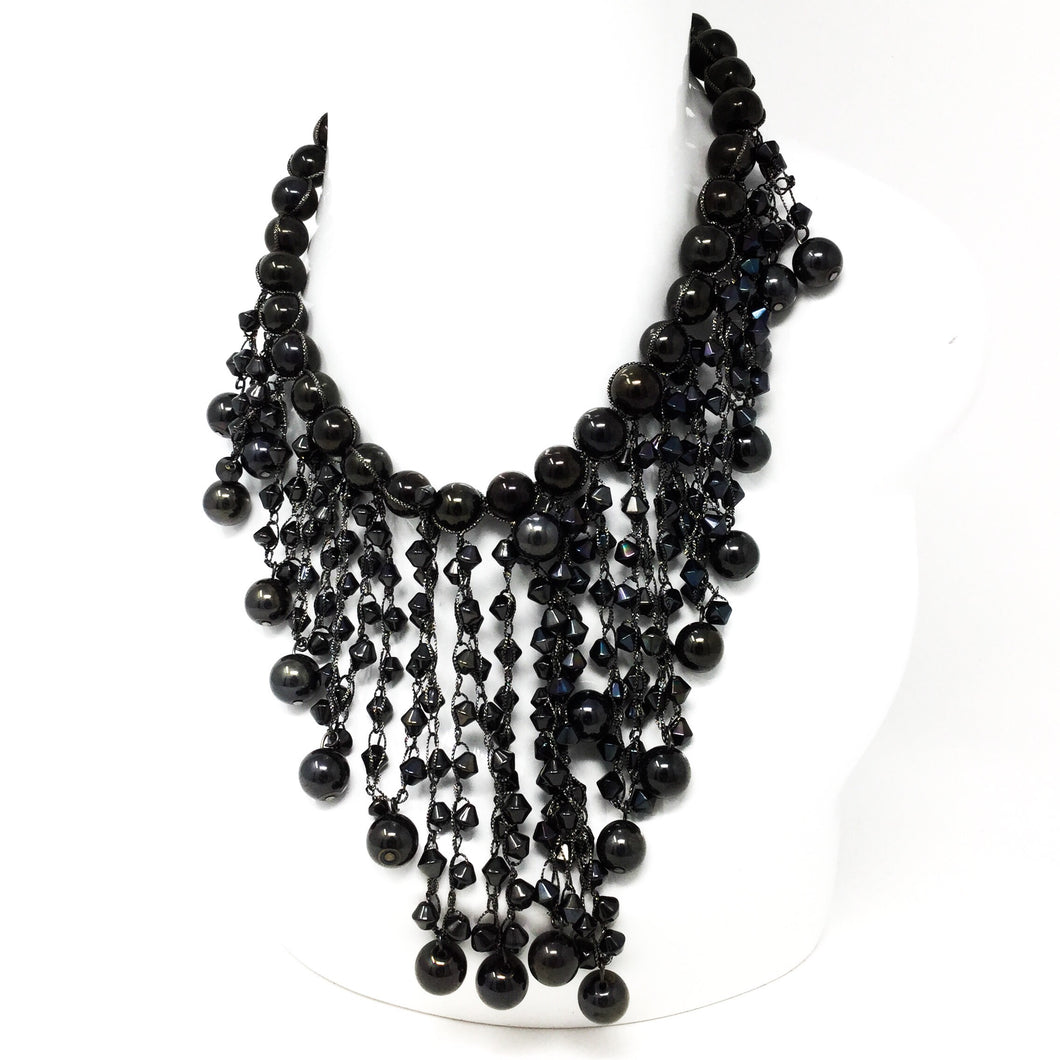 Midnight Beaded Necklace