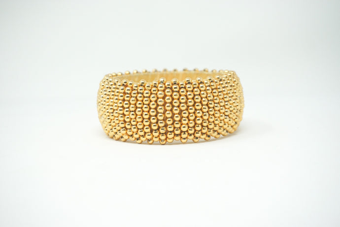 Gold Beaded Bangle