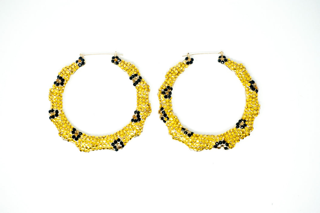 Spotted Gem Hoops