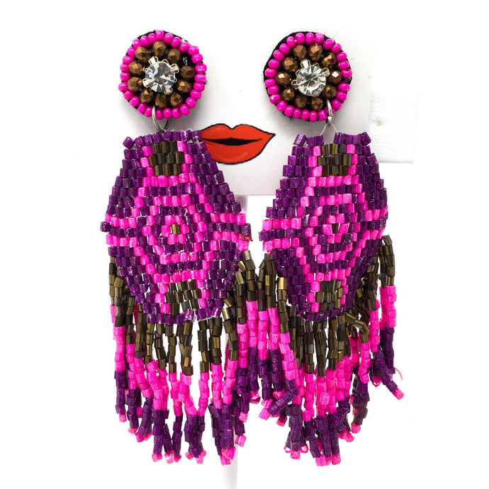Beaded Pattern Earrings