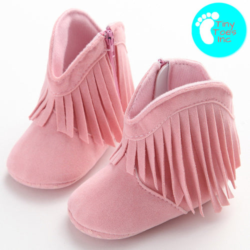 Shawnee Closed Toe Baby Moccasin Boots - 6 Colors Available