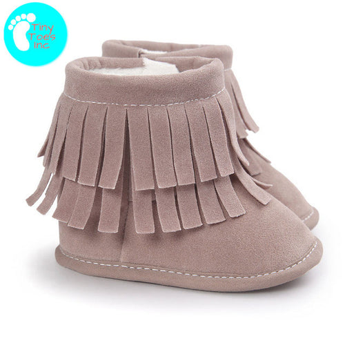 Cheyenne Closed Toe Baby Moccasin Boots - 8 Colors Available