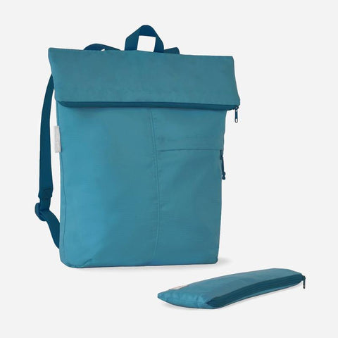 blue recycled backpack
