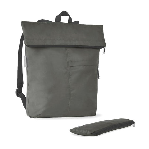 grey recycled backpack