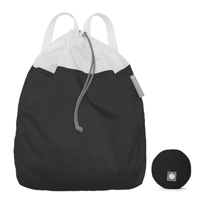 Flip and Tumble Drawstring Backpack Black