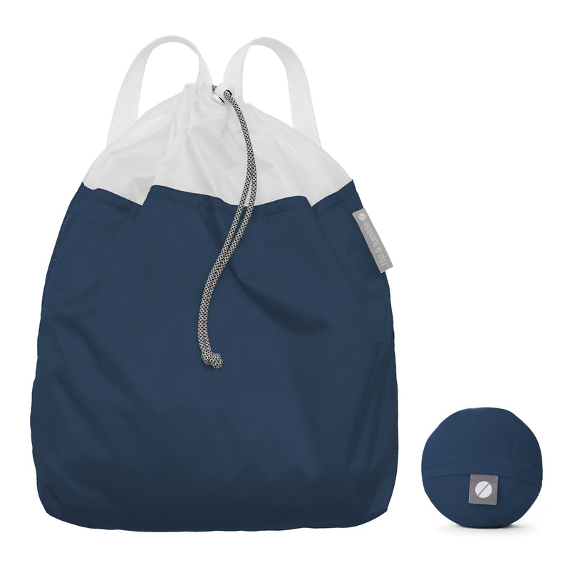 Flip and Tumble Drawstring Backpack Navy