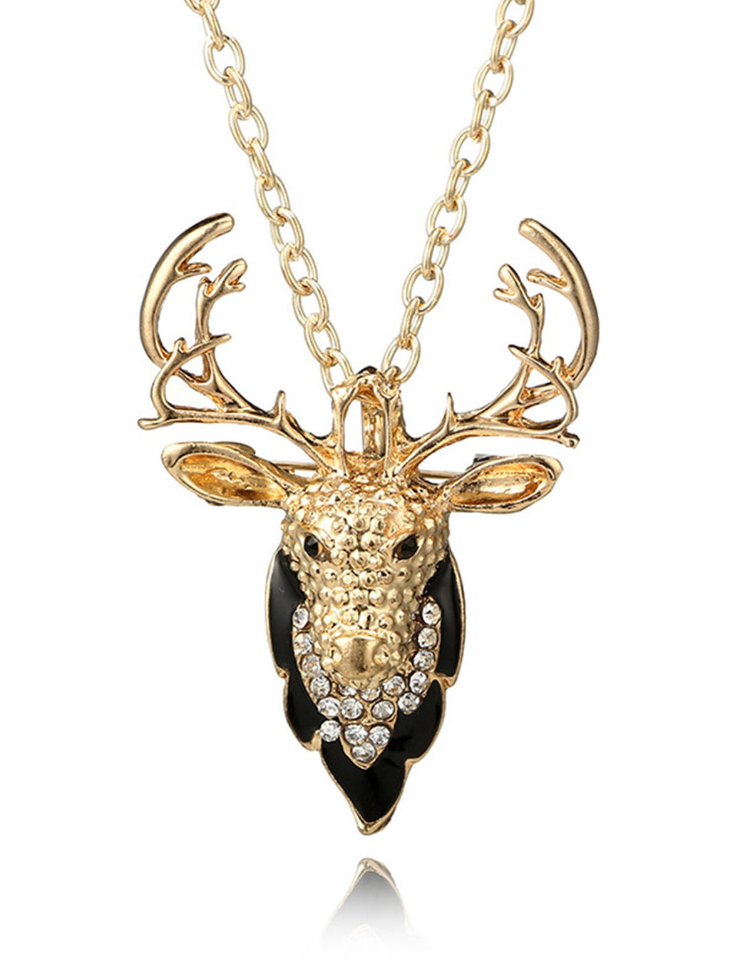 Creative Christmas Elk Alloy Necklace Rikkishop