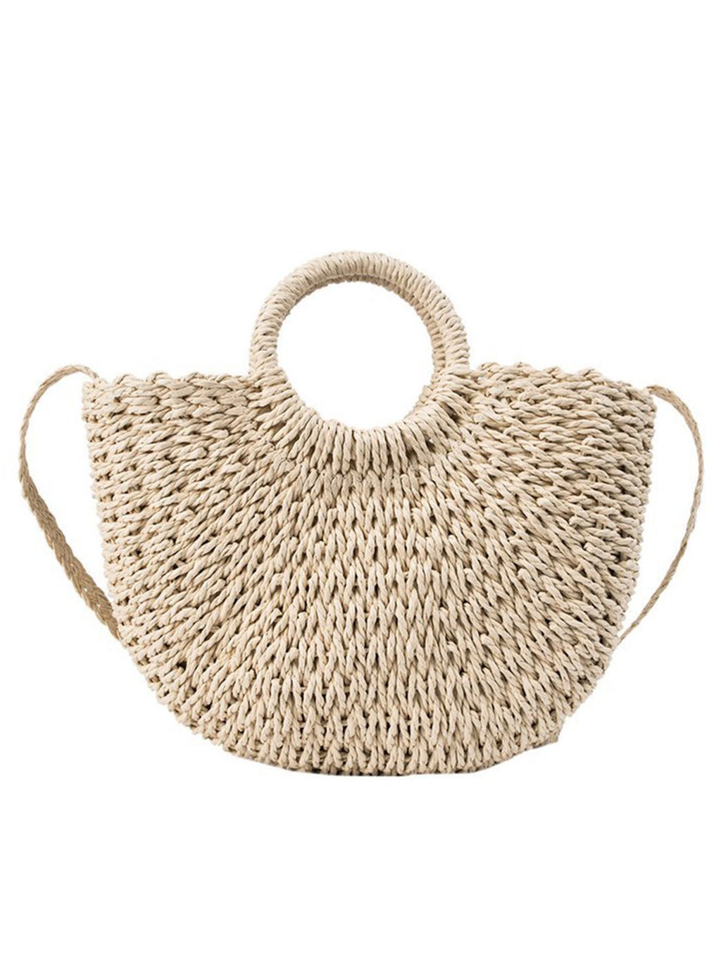 Fashion Straw Crochet Shoulder Bag