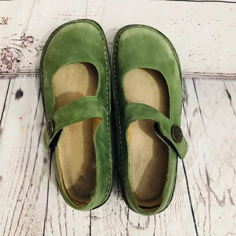 Alegria Paloma Green Mary Jane Loafers Rikkishop