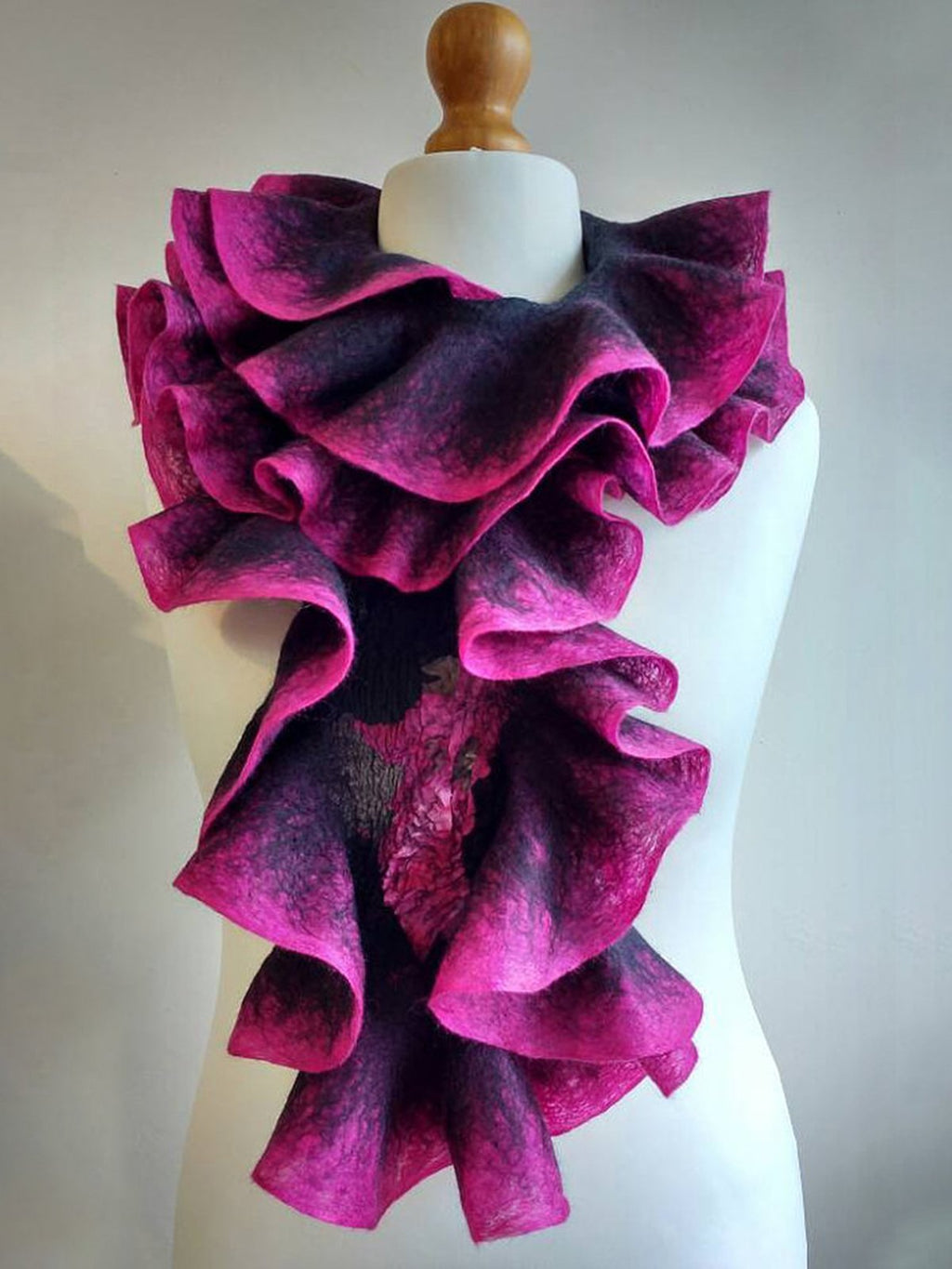 Pink Paneled Ombre/tie-Dye Casual Scarves & Shawls