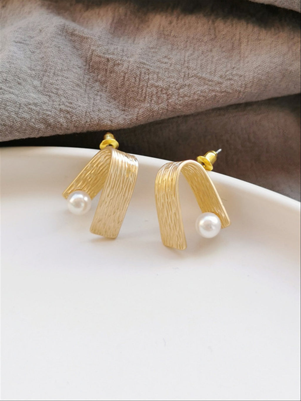 Casual Basic Daily Classic Golden Earings